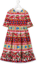 Dolce & Gabbana Carreto Siciliano dress - kids - Cotton - 4 yrs