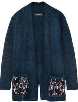 By Malene Birger Josemaria Embellished Wool-blend Cardigan - Petrol