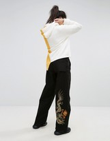 MHI Wide Leg Snopants With Dragon Embroidery