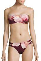 Carmen Marc Valvo Gilded Garden Bikini Top