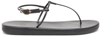 Ancient Greek Sandals Katerina T-bar Leather Sandals - Womens - Black
