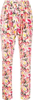 Stella McCartney Floral Print Cotton Trousers