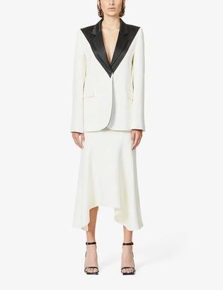 Hyun Mi Nielsen Single-breasted cotton and silk-blend blazer