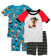 """Carter's Boys' 12M-4T White/Blue 4-pc. """"Dad's First Mate"""" Pajama Set"""