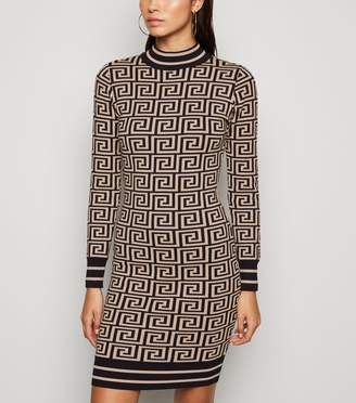 New Look Cameo Rose Geometric Jumper Dress