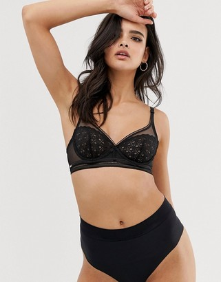 Lindex invisible high waist thong in black