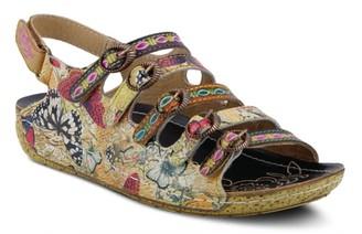 L'artiste By Spring Step Taffyta Wedge Sandal