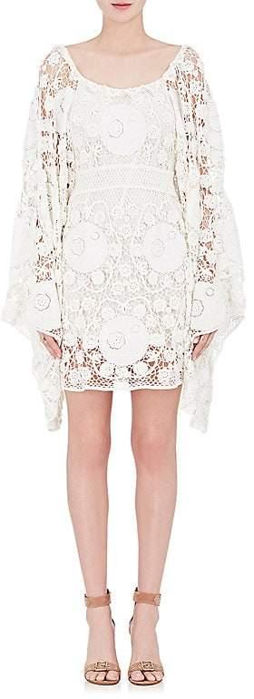 Chloé WOMEN'S COTTON CROCHET OFF-THE-SHOULDER DRESS