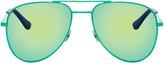Saint Laurent Green SL Classic 11 Surf Aviator Sunglasses