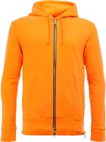 Balmain side zip hoodie - men - Cotton - M