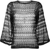 Isabel Marant crochet wide sleeve sweater - women - Linen/Flax/Polyamide - 36