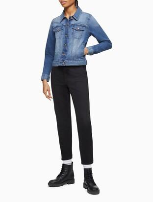 Calvin Klein Mid Blue Faded Denim Trucker Jacket