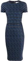 Victoria Beckham houndstooth fitted dress
