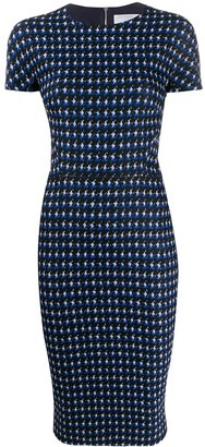 Victoria Beckham houndstooth fitted dress