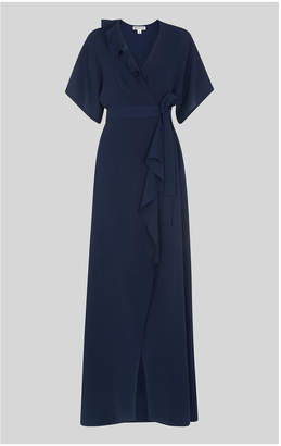 Whistles Nova Frill Wrap Maxi Dress
