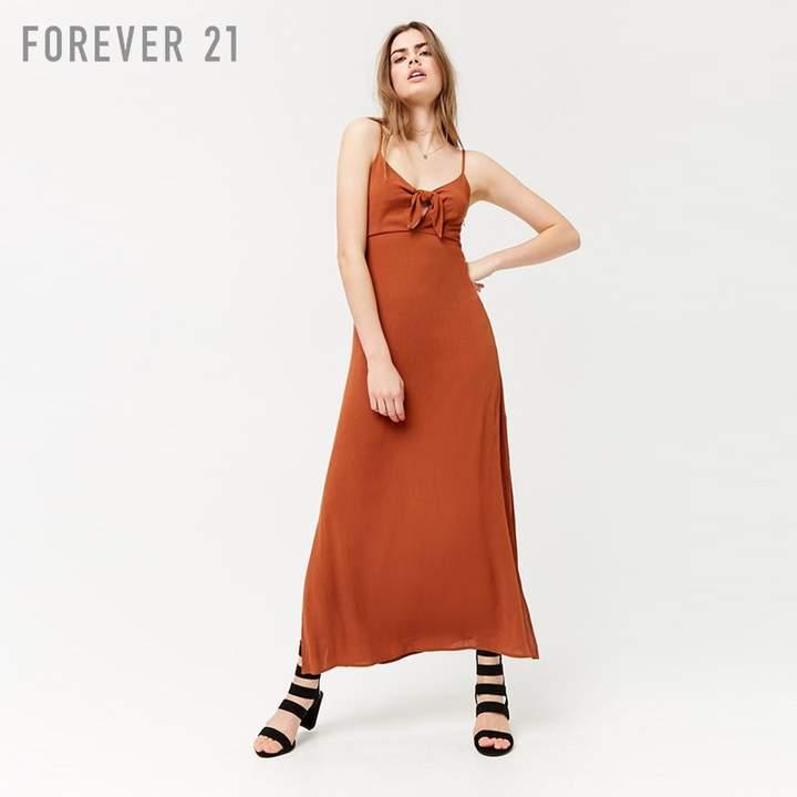 Forever 21 (フォーエバー 21) - Forever 21 フロントリボンロングワンピース