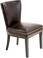 Asstd National Brand Brodie Bonded Leather Dining Chair with Nailhead Trim