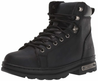 "AdTec 6"" Motorcyle Boots for Men Oil Reistant Leather with Side Zipper Good Year Welt Construction"