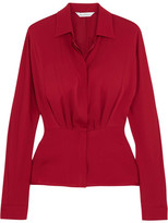 Max Mara Silk-crepe Blouse - Red
