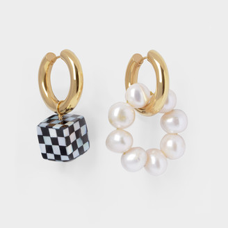 Timeless Pearly Pearl-Embellished Mismatched Earrings