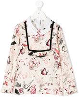 Vivetta Kids hand embroidered collar blouse