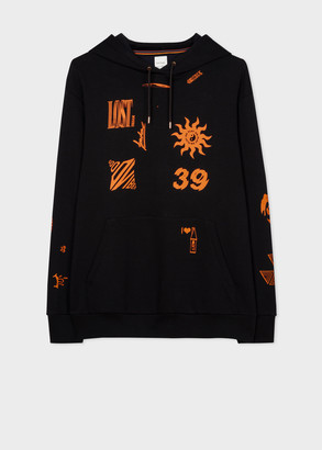 Paul Smith Men's Black 'Club Graphics' Print Hoodie
