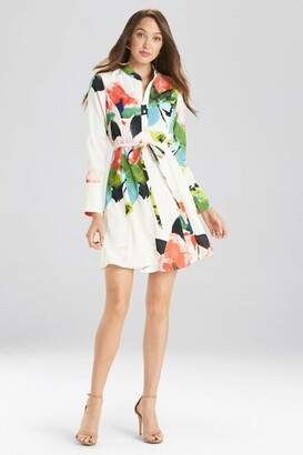 Natori Blossom Shirt Dress