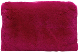 Yves Salomon Pink Fur Clutch