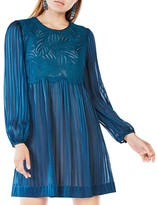 BCBGMAXAZRIA Astrid Striped Silk Dress
