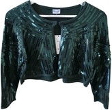 Adolfo Dominguez Green Glitter Jacket for Women