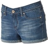 Hydraulic Juniors' Lola Frayed Curvy Shortie Shorts