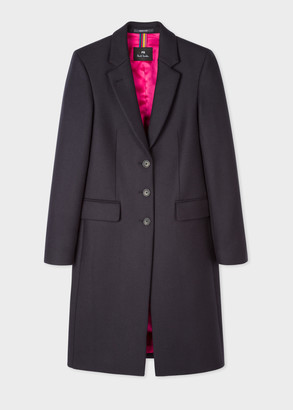 Paul Smith Women's Navy Three-Button Wool-Blend Epsom Coat