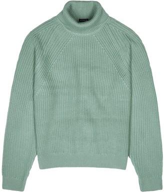 BOSS Gilo Mint Roll-neck Wool Jumper