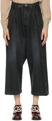 Loewe Black Cropped Oversized Jeans