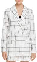 The Fifth Label Atticus Double-Breasted Check-Print Blazer