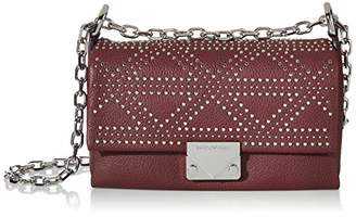 Emporio Armani Designer Embellished Leather Cross Body