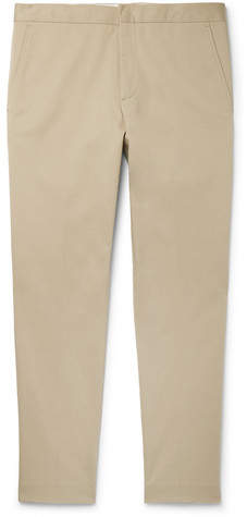 Sandro Cropped Tapered Stretch-Cotton Gabardine Trousers