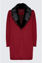 Select Fashion Fashion Women's Rioja Fur Trim Jacket - size 6
