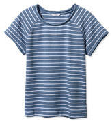 L.L. Bean Signature Short-Sleeve Scoopneck Sweatshirt, Stripe