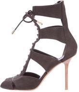 Louis Vuitton Leather Lace-Up Sandals