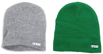 Neff 2 Pack Daily Beanie Grey/Olive One Size/One Size