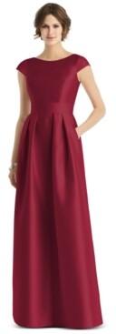 Alfred Sung Cap-Sleeve Maxi Dress