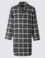 Marks and Spencer Pure Cotton Wincey Checked Nightshirt