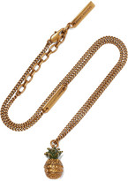 Marc Jacobs Pineapple Gold-plated Crystal Necklace - one size