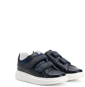 Emporio Armani Kids TEEN logo strap low-top sneakers