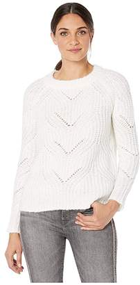 Kensie Twisted Fuzzy Yarn Sweater KSNK5964