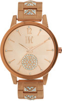 INC International Concepts Women's Crystal Rose Gold-Tone Bracelet Watch 40mm IN006RG, A Macy's Exclusive Style