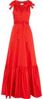 Alexis Indila Fluted Cotton-Blend Maxi Dress