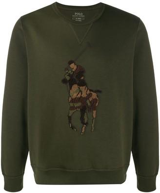 Polo Ralph Lauren Embroidered Crew-Neck Sweatshirt