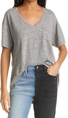 Frame Deep V-Neck Pocket T-Shirt